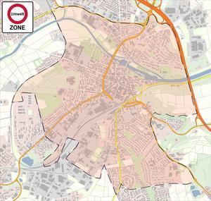 Plan der Umweltzone Limburg