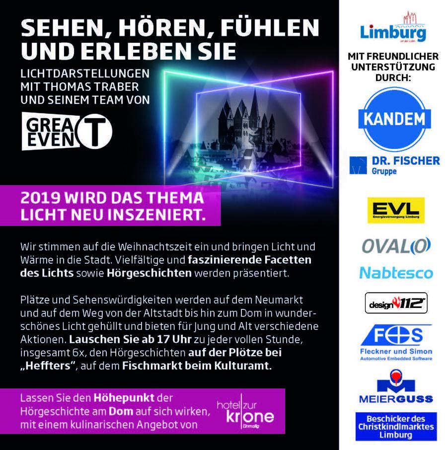 Limburg Er Leuchtet Das Etwas Andere Lichtfestival